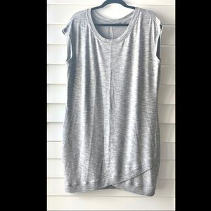 Athleta Gray tunic dress sleeveless large L